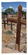 Wood Crosses In Taos Cemetery Bath Towel