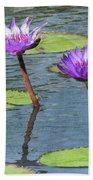 Wood Enhanced Water Lilies Bath Towel