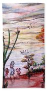 Wooded Beachfront With Fun Seekers Bath Towel