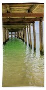 Wooden Pier Stretching Into The Sea Bath Towel