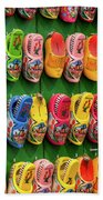 Wooden Shoes From Amsterdam Bath Towel
