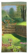Woodland Garden In A Small Town Hand Towel