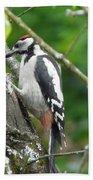 Woodpecker Bath Towel