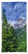 Woods Surrounding Mt. Rainier Bath Towel