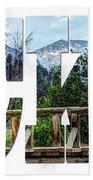 Word Art...the Rockies Bath Towel