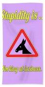 Working Bigstock Donkey 171252860 Bath Towel