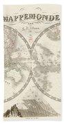 World Map - 1842 Bath Towel