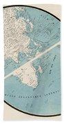World Map - 1857 Bath Towel