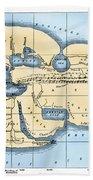 World Map: Eratosthenes Bath Towel