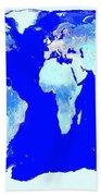 World Map Bath Towel