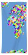 World Map Palette Bath Towel
