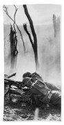 World War I: Battlefield Bath Towel