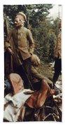 World War I: French Troops Bath Towel