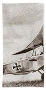 World War I: German Biplane Bath Towel