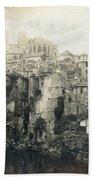 World War I: Verdun Ruins Hand Towel