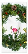 Wreath With Rose Bath Towel