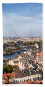 Wroclaw Cityscape In Poland Bath Towel