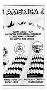 Ww2 Airplane Supply Cartoon  Hand Towel