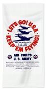 Us Army Air Corps - Ww2 Bath Towel