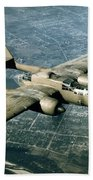 Wwii, Northrop P-61 Black Widow, 1940s Bath Towel