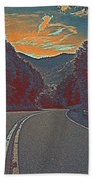 Wynding Road In Between Trees Hand Towel