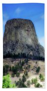 Wyoming Devils Tower With 8 Climbers August 7th 12 36pm 2016 With Inserts Bath Towel