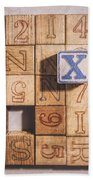 X Blocks Hand Towel