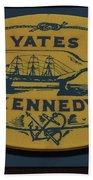 Yates Kennedy Sign Provincetown Bath Towel