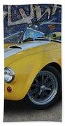 Yellow Ac Cobra  Bath Towel