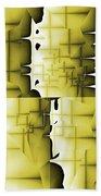 Yellow And Black 6 Bath Towel