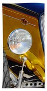 Yellow And Blue Hot Rod Headlight Hand Towel