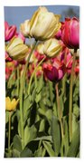 Yellow And Pink Tulips V 2018 Bath Towel
