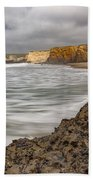 Yellow Bank Cliffs Bath Towel