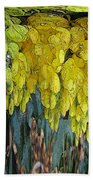 Yellow Buds Bath Towel