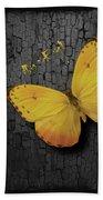 Yellow Butterfly Bath Towel