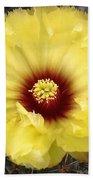 Yellow Cactus Flower Bath Towel
