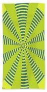 Yellow Cactus Spines Abstract Bath Towel