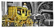 Yellow Carriage Bath Towel