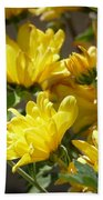 Yellow Chrysanthemum Bath Towel
