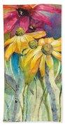Yellow Coneflower Bath Towel