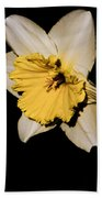 Yellow Daffodil Bath Towel