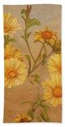 Yellow Daisies Bath Towel