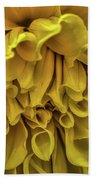 Yellow Dinner Plate Dahlia Bath Towel