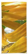 Yellow Droplet Petals Bath Towel