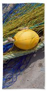 Yellow Floats Bath Towel