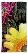 Yellow Floral Bath Towel