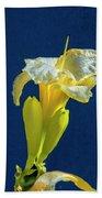 Yellow Glue Blue #f9 Bath Towel