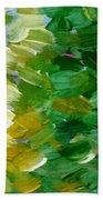 Yellow Green - Abstract Bath Towel