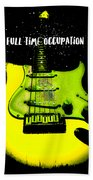 Yellow Guitar Full Time Occupation Hand Towel