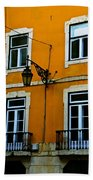Yellow Italian Building Bath Towel